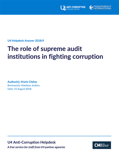 The role of supreme audit institutions in fighting corruption